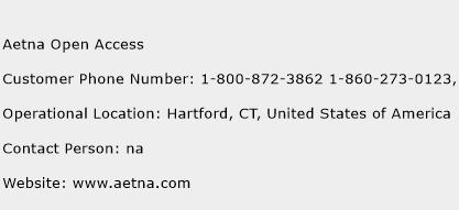 Aetna Open Access Phone Number Customer Service