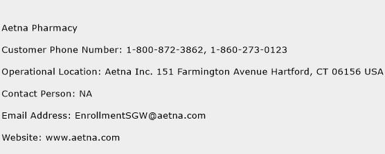 Aetna Pharmacy Phone Number Customer Service