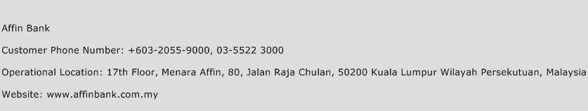 Affin Bank Phone Number Customer Service
