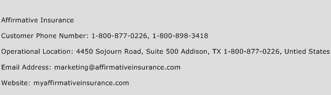 Affirmative Insurance Phone Number Customer Service