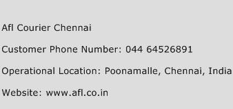 Afl Courier Chennai Phone Number Customer Service