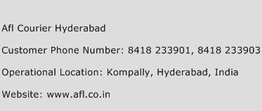 Afl Courier Hyderabad Phone Number Customer Service