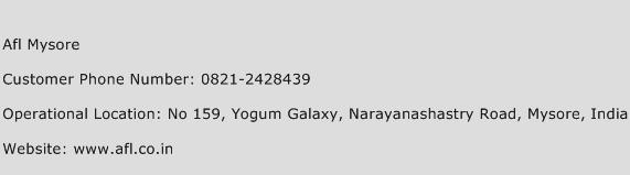 Afl Mysore Phone Number Customer Service