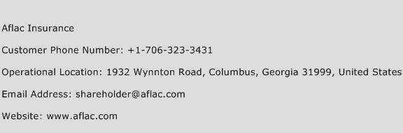 Aflac Insurance Phone Number Customer Service