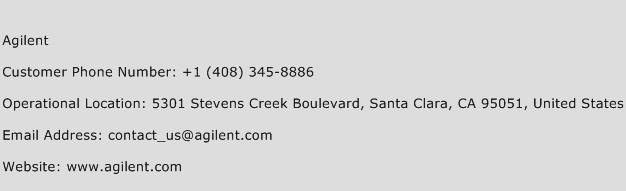 Agilent Phone Number Customer Service