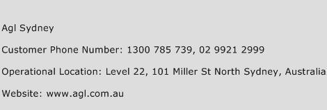 Agl Sydney Phone Number Customer Service