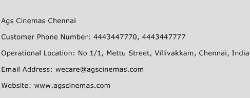 Ags Cinemas Chennai Phone Number Customer Service