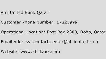 Ahli United Bank Qatar Phone Number Customer Service