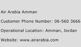 Air Arabia Amman Phone Number Customer Service