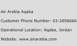 Air Arabia Aqaba Phone Number Customer Service
