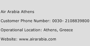Air Arabia Athens Phone Number Customer Service