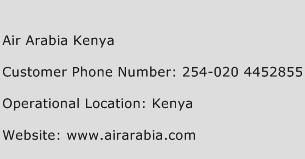 Air Arabia Kenya Phone Number Customer Service