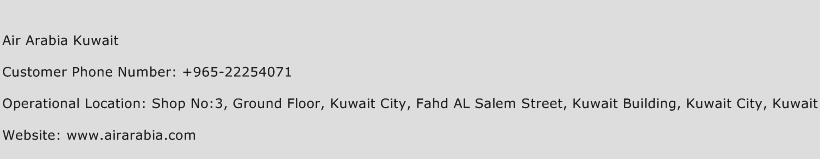 Air Arabia Kuwait Phone Number Customer Service