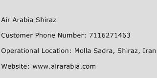 Air Arabia Shiraz Phone Number Customer Service