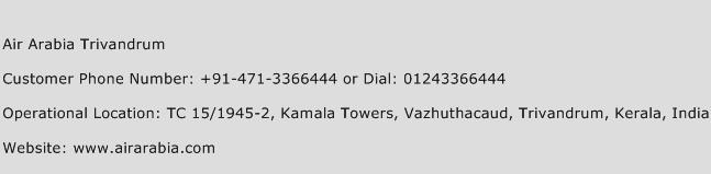 Air Arabia Trivandrum Phone Number Customer Service