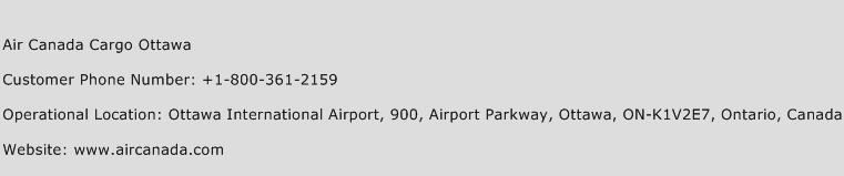 Air Canada Cargo Ottawa Phone Number Customer Service