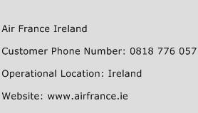 Air France Ireland Phone Number Customer Service