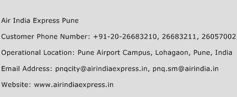 Air India Express Pune Phone Number Customer Service