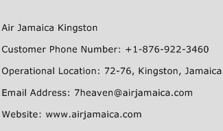 Air Jamaica Kingston Phone Number Customer Service