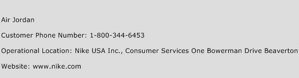 Air Jordan Numéro De Service À La Clientèle