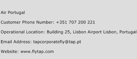 Air Portugal Phone Number Customer Service