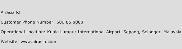 Airasia Kl Phone Number Customer Service