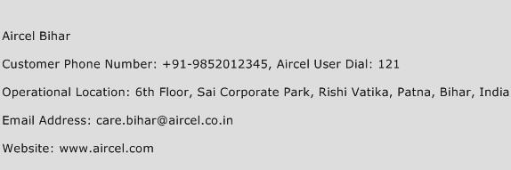 Aircel Bihar Phone Number Customer Service