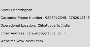 Aircel Chhattisgarh Phone Number Customer Service