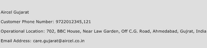 Aircel Gujarat Phone Number Customer Service