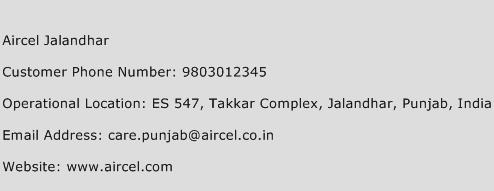 Aircel Jalandhar Phone Number Customer Service