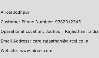 Aircel Jodhpur Phone Number Customer Service