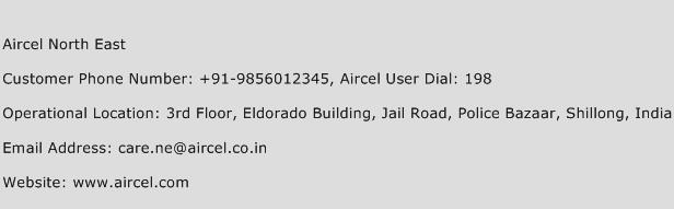 Aircel North East Phone Number Customer Service