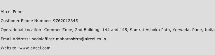 Aircel Pune Phone Number Customer Service