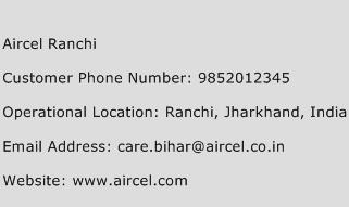 Aircel Ranchi Phone Number Customer Service