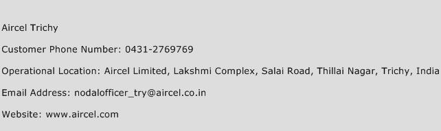 Aircel Trichy Phone Number Customer Service