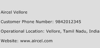 Aircel Vellore Phone Number Customer Service