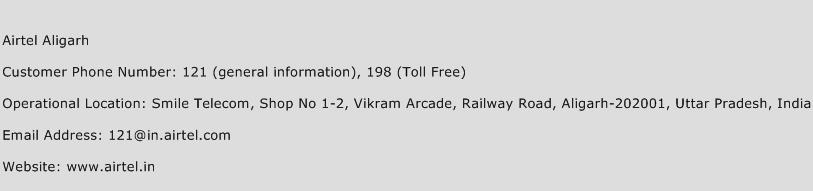 Airtel Aligarh Phone Number Customer Service