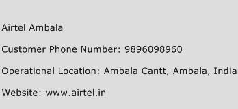 Airtel Ambala Phone Number Customer Service
