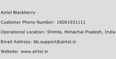 Airtel Blackberry Phone Number Customer Service