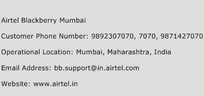 Airtel Blackberry Mumbai Phone Number Customer Service