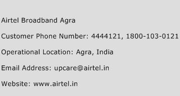 Airtel Broadband Agra Phone Number Customer Service