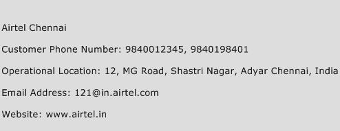 Airtel Chennai Phone Number Customer Service