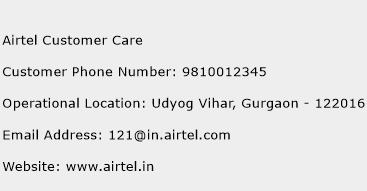 Airtel Customer Care Phone Number Customer Service