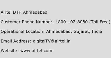 Airtel DTH Ahmedabad Phone Number Customer Service
