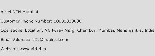 Airtel DTH Mumbai Phone Number Customer Service
