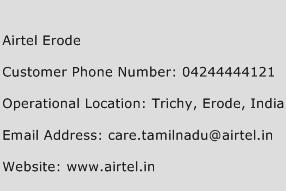 Airtel Erode Phone Number Customer Service
