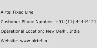Airtel Fixed Line Phone Number Customer Service