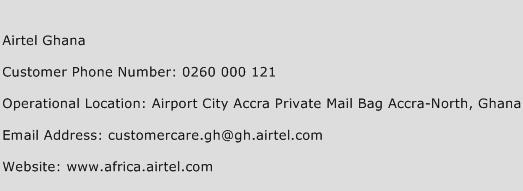 Airtel Ghana Phone Number Customer Service