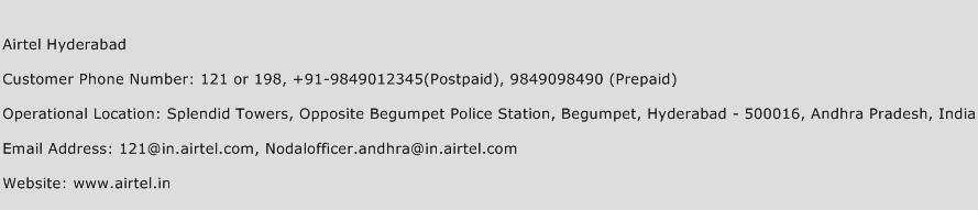 Airtel Hyderabad Phone Number Customer Service