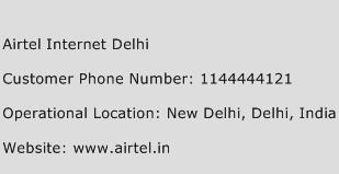 Airtel Internet Delhi Phone Number Customer Service